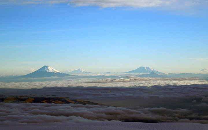 andes, ecuador, antisana, cayambe, volcanoes
