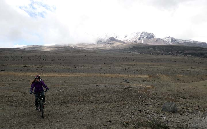 Cotopaxi and Chimborazo biking in 2 Days