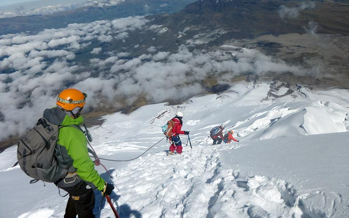 andes, cotopaxi, climbing, snow, peaks