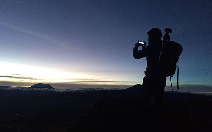 pasochoa-climbing-sunset
